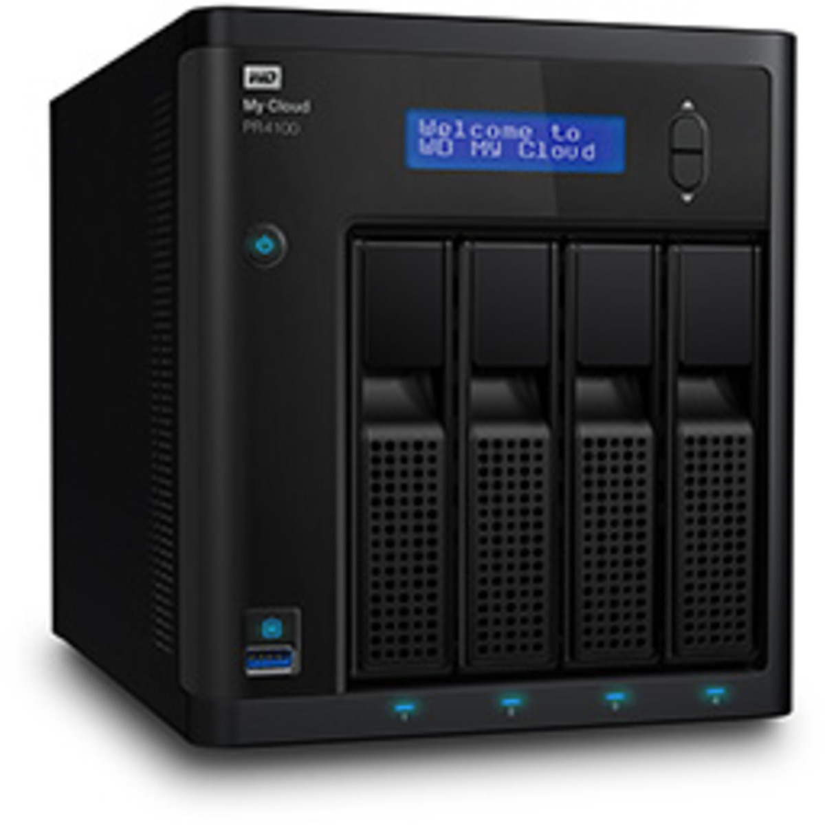 buy $1663 Western Digital My Cloud Pro PR4100 32tb Desktop NAS - Network Attached Storage Device 4x8000gb Western Digital Red NAS WD80EFZX 3.5 5400rpm SATA 6Gb/s HDD NAS Class Drives Installed - Burn-In Tested - nas headquarters buy network attached storage server device das new sale raid-5 free shipping usa My Cloud Pro PR4100