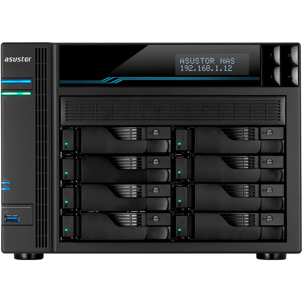 buy $3007 ASUSTOR AS6508T Lockerstor 8 7.6tb Desktop NAS - Network Attached Storage Device 8x960gb Seagate IronWolf ZA960NM10011 2.5 SATA 6Gb/s SSD NAS Class Drives Installed - Burn-In Tested - nas headquarters buy network attached storage server device das new raid-5 free shipping usa spring inventory clearance sale happening now AS6508T Lockerstor 8