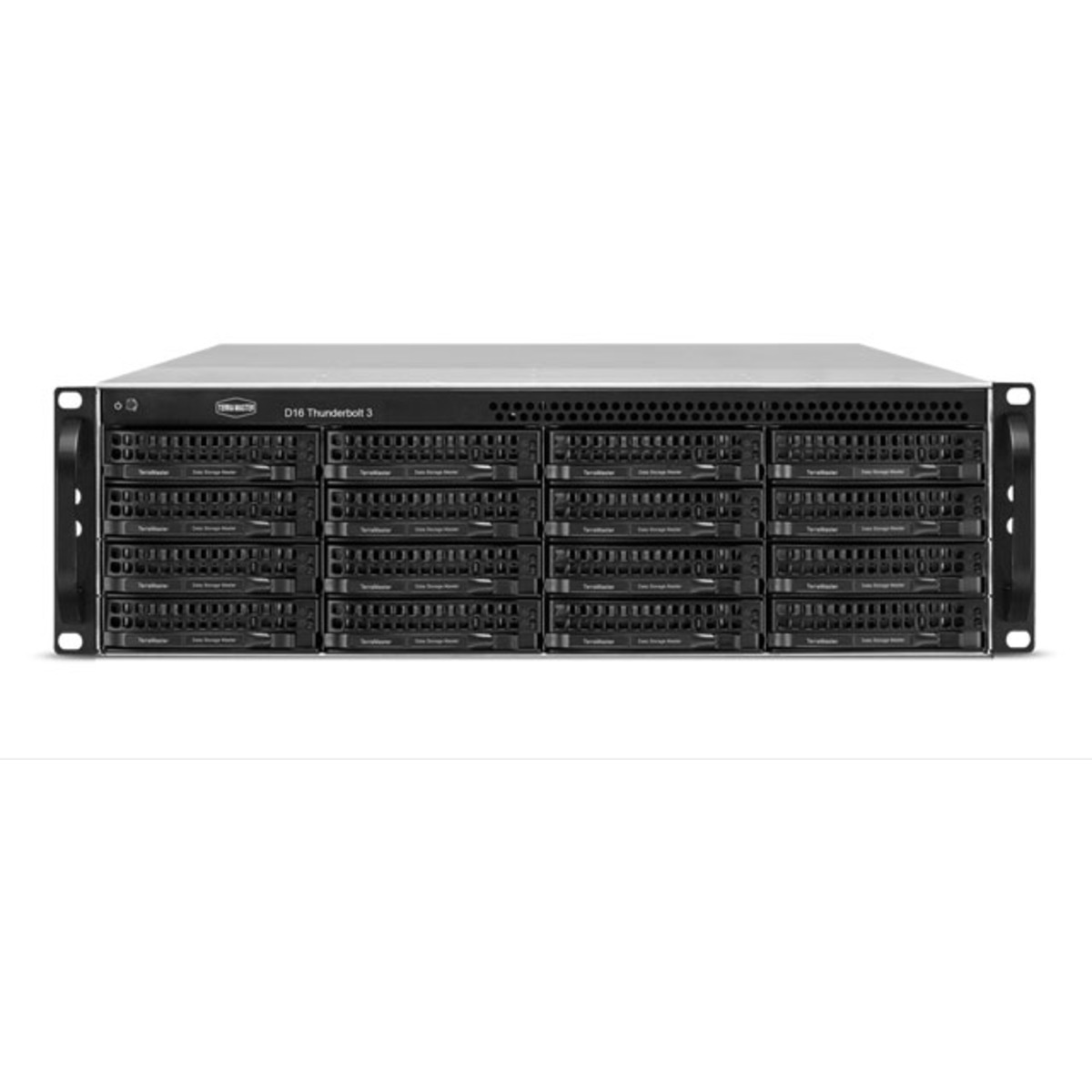 buy $5276 TerraMaster D16 Thunderbolt 3 48tb RackMount DAS - Direct Attached Storage Device 16x3000gb Western Digital Red Plus WD30EFRX 3.5 5400rpm SATA 6Gb/s HDD NAS Class Drives Installed - Burn-In Tested - nas headquarters buy network attached storage server device das new raid-5 free shipping usa holiday new year clearance sale D16 Thunderbolt 3