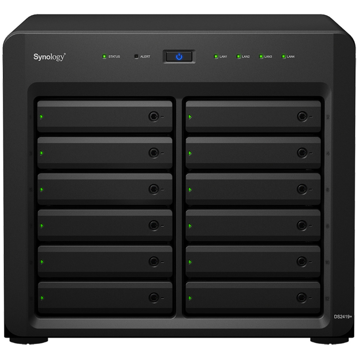 buy $3903 Synology DiskStation DS2419+ 48tb Desktop NAS - Network Attached Storage Device 12x4000gb Seagate IronWolf Pro ST4000NE001 3.5 7200rpm SATA 6Gb/s HDD NAS Class Drives Installed - Burn-In Tested - nas headquarters buy network attached storage server device das new raid-5 free shipping usa holiday new year clearance sale DiskStation DS2419+