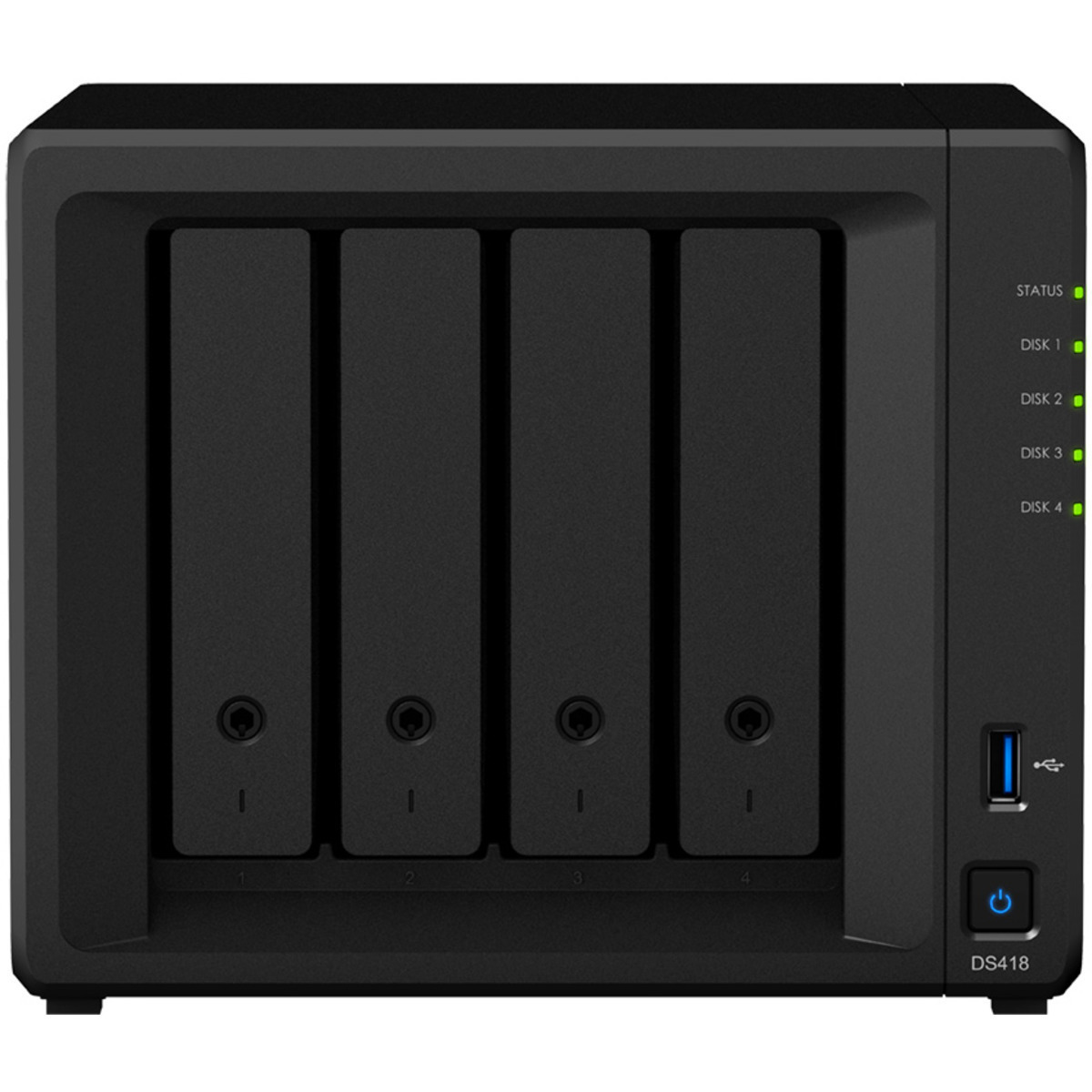 buy $2372 Synology DiskStation DS418 48tb Desktop NAS - Network Attached Storage Device 4x12000gb Western Digital Gold WD121KRYZ 3.5 7200rpm SATA 6Gb/s HDD ENTERPRISE Class Drives Installed - Burn-In Tested - nas headquarters buy network attached storage server device das new sale raid-5 free shipping usa DiskStation DS418