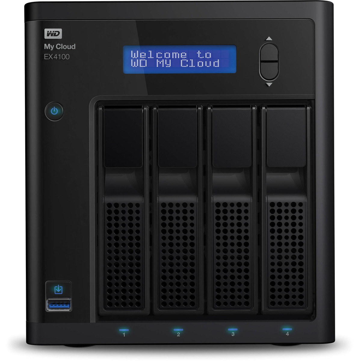 buy $943 Western Digital My Cloud EX4100 16tb Desktop NAS - Network Attached Storage Device 4x4000gb Western Digital Red WD40EFRX 3.5 IntelliPower SATA 6Gb/s HDD NAS Class Drives Installed - Burn-In Tested - nas headquarters buy network attached storage server device das new raid-5 free shipping usa spring inventory clearance sale happening now My Cloud EX4100