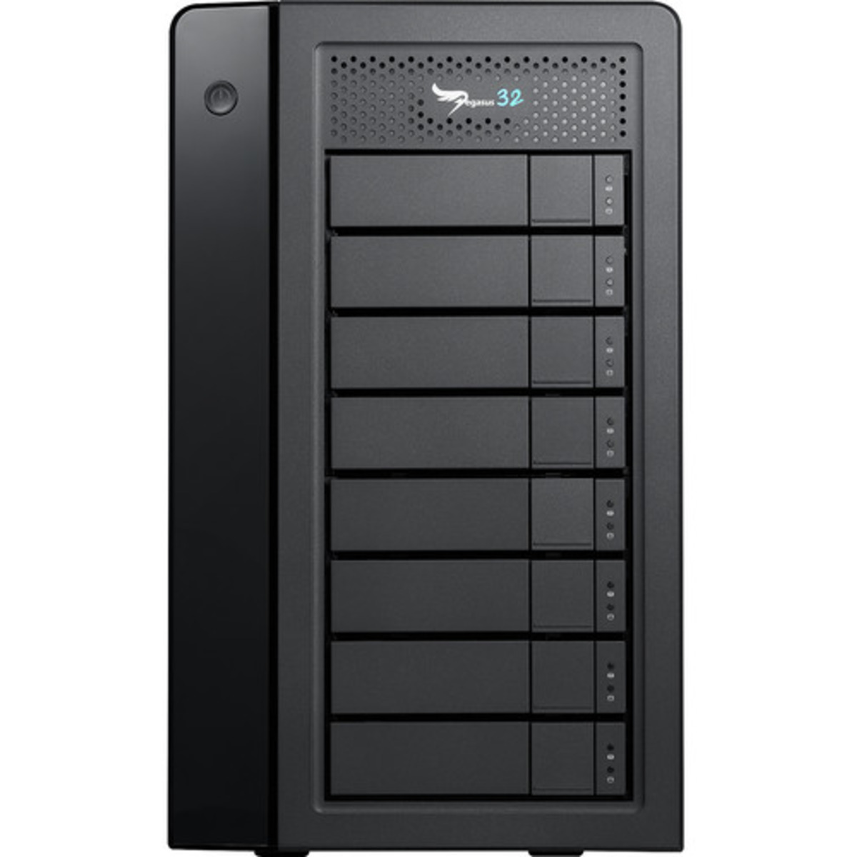 buy $5043 Promise Technology Pegasus32 R8 Thunderbolt 3 80tb Desktop DAS - Direct Attached Storage Device 8x10000gb Seagate EXOS X16 ST10000NM001G 3.5 7200rpm SATA 6Gb/s HDD ENTERPRISE Class Drives Installed - Burn-In Tested - nas headquarters buy network attached storage server device das new raid-5 free shipping usa holiday new year clearance sale Pegasus32 R8 Thunderbolt 3