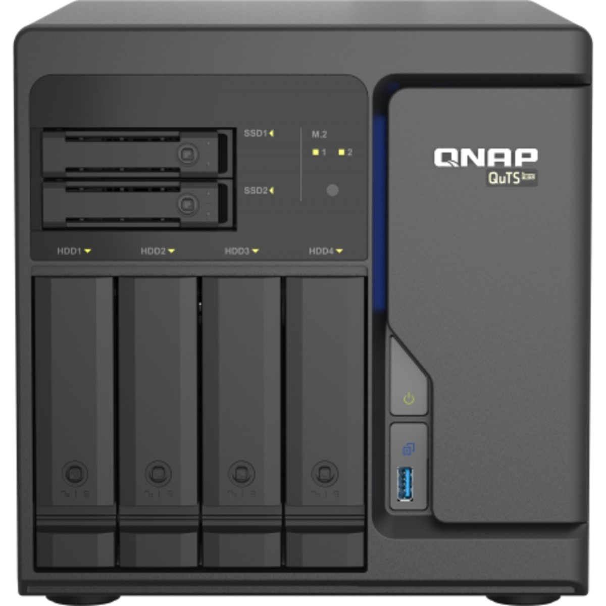 buy $1835 QNAP TS-h686 QuTS hero NAS 16tb Desktop NAS - Network Attached Storage Device 4x4000gb Toshiba MD04ACA Series MD04ACA400 3.5 7200rpm SATA 6Gb/s HDD CONSUMER Class Drives Installed - Burn-In Tested - ON SALE - nas headquarters buy network attached storage server device das new raid-5 free shipping usa holiday new year clearance sale TS-h686 QuTS hero NAS