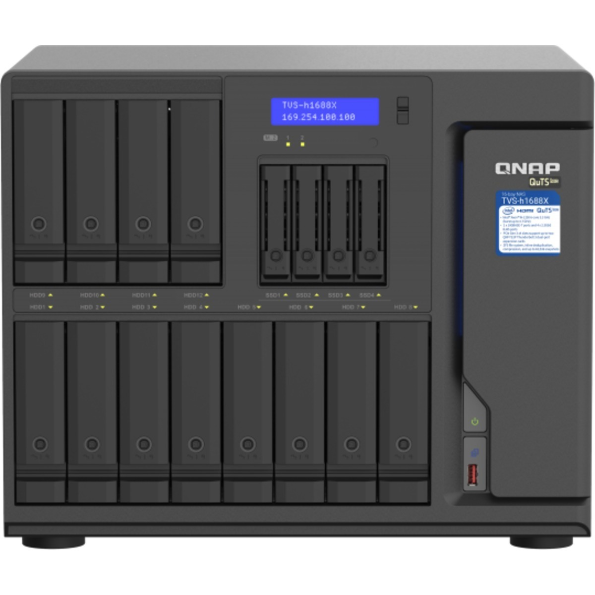 buy $3904 QNAP TVS-h1688X QuTS hero NAS 24tb Desktop NAS - Network Attached Storage Device 12x2000gb Seagate BarraCuda ST2000DM008 3.5 7200rpm SATA 6Gb/s HDD CONSUMER Class Drives Installed - Burn-In Tested - ON SALE - nas headquarters buy network attached storage server device das new raid-5 free shipping usa holiday new year clearance sale TVS-h1688X QuTS hero NAS